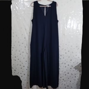 H & M Blue Wide Leg Jumpsuit Size 16